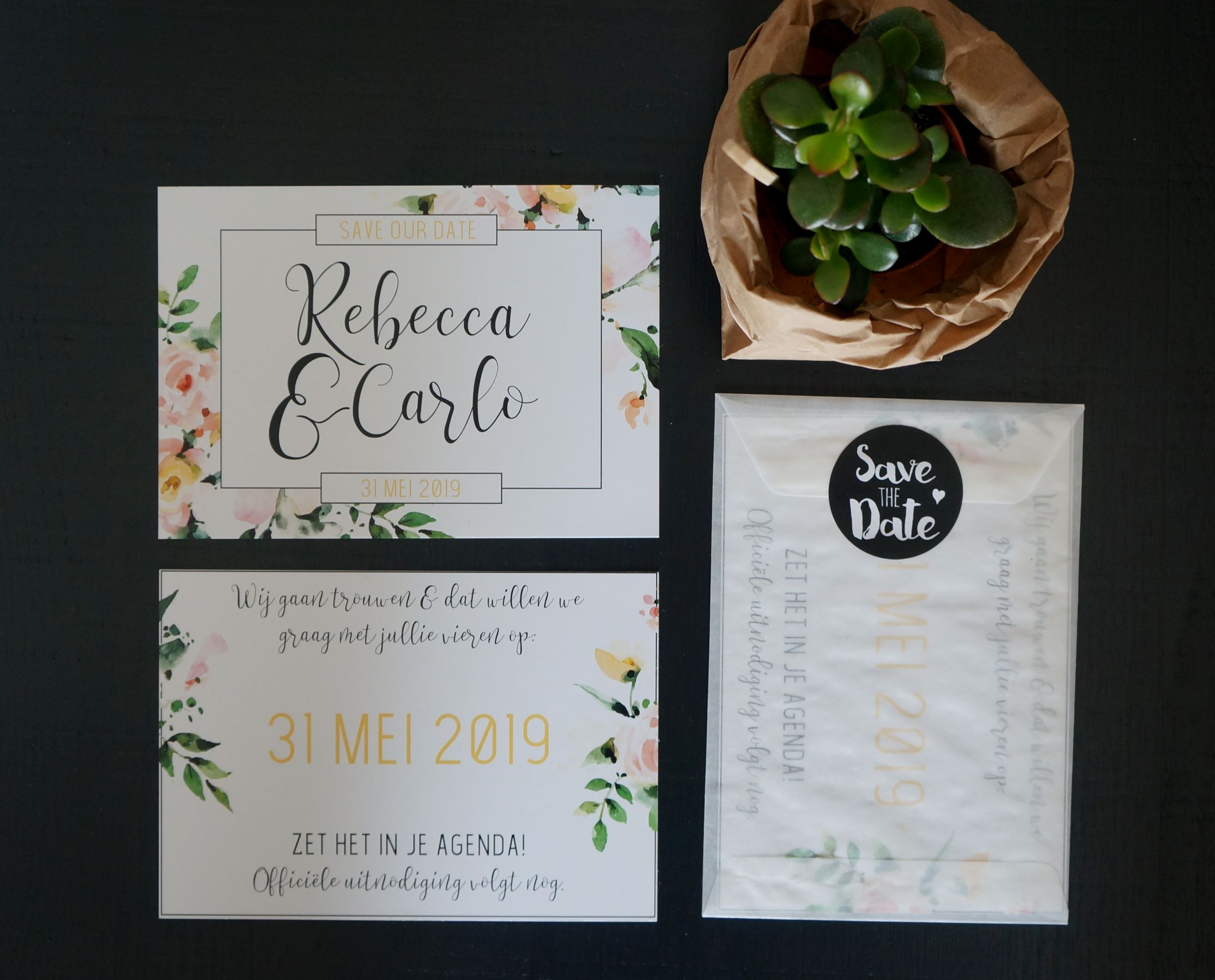 Save the date Rebecca & Carlo